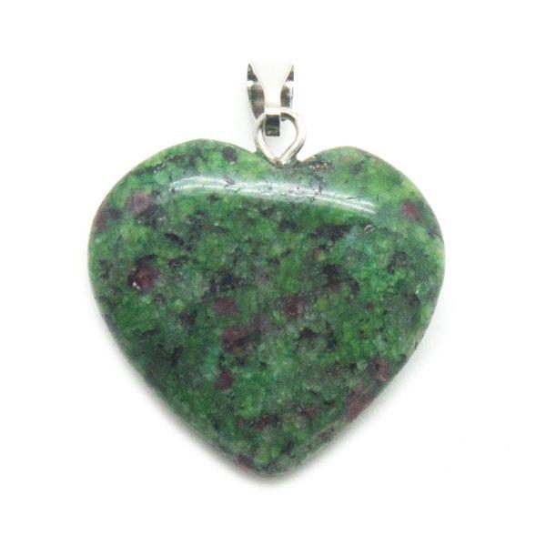 Ruby in Zoisite Heart Pendant-138814