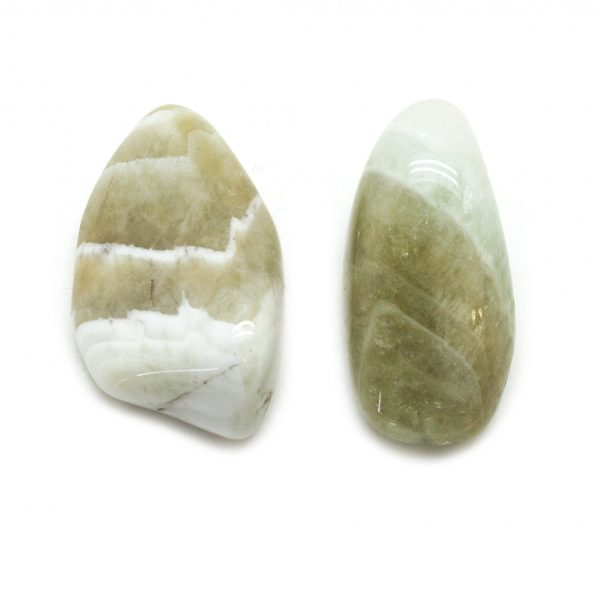 Prasiolite Aura Stone Pair (Small)-0