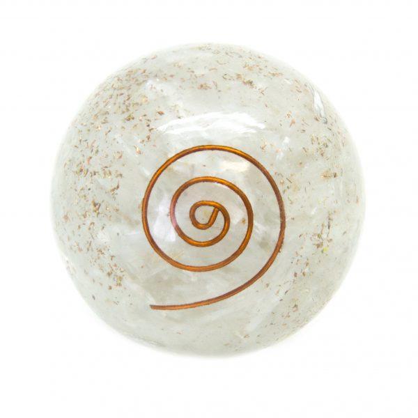Selenite Orgonite Sphere-136864