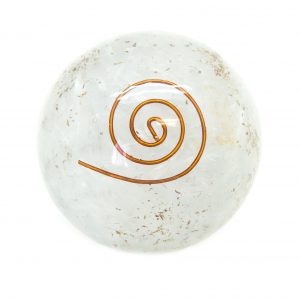 Selenite Orgonite Sphere-0
