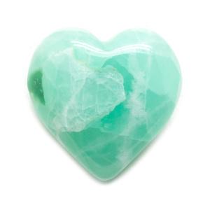 Pistachio Calcite Heart -0
