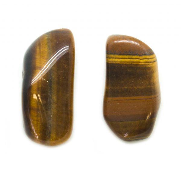 Tiger's Eye Aura Stone Pair (Small)-0