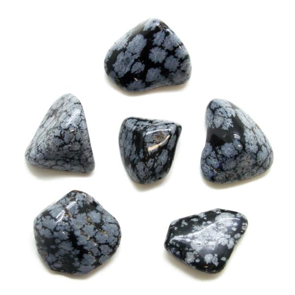 Snowflake Obsidian Tumbled Stone Set (Large)-147768