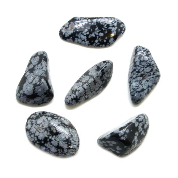 Snowflake Obsidian Tumbled Stone Set (Extra Large)-0