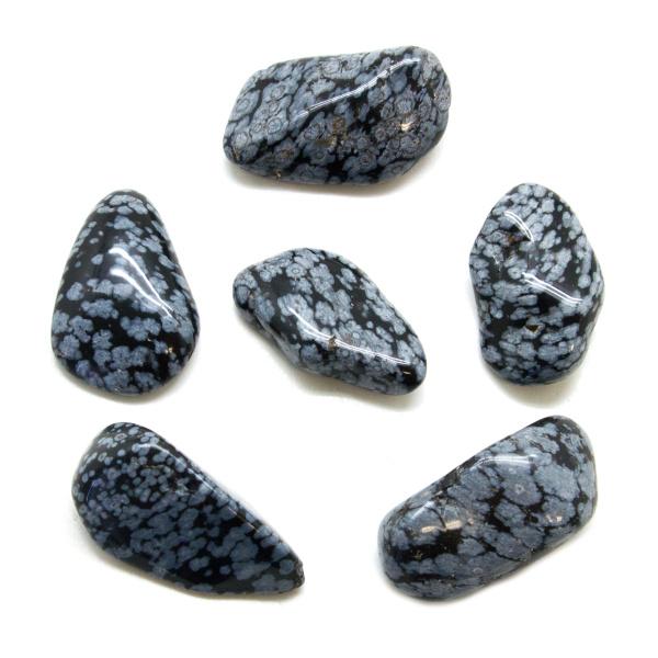 Snowflake Obsidian Tumbled Stone Set (Extra Large)-147773