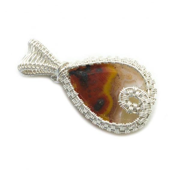 Faceted Agate Pendant-142228