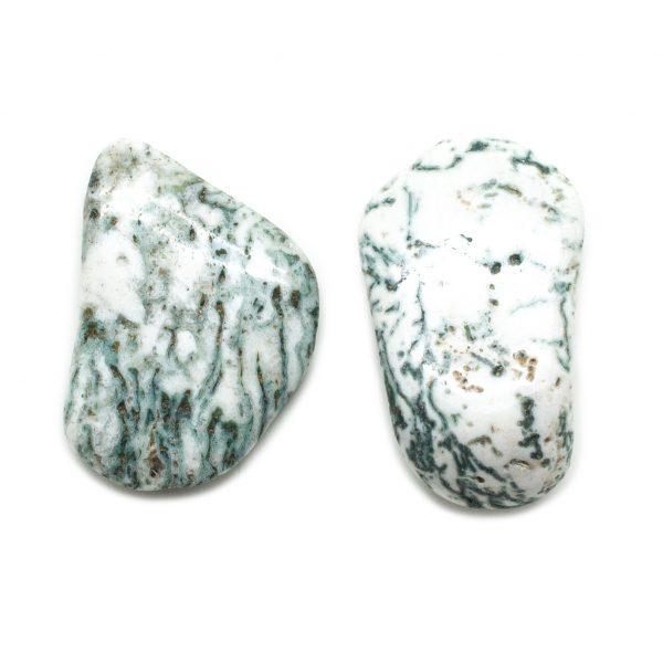 Moss Agate Aura Stone Pair (Small)-145743