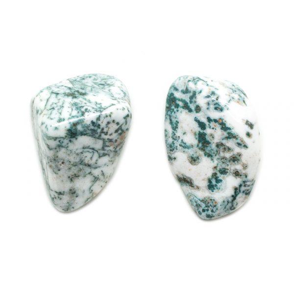 Moss Agate Aura Stone Pair (Small)-0