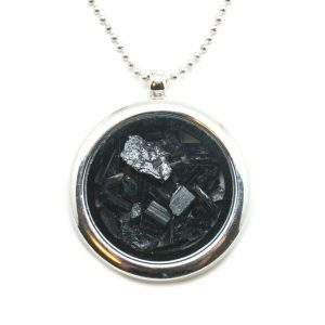 Black Tourmaline Floating Pendant-0