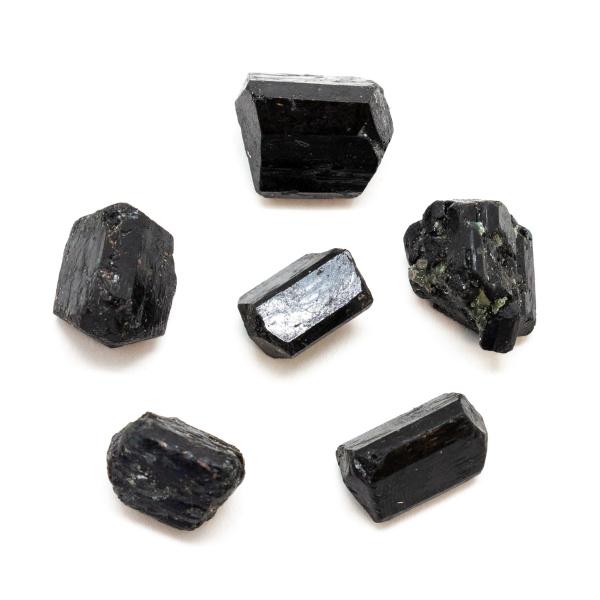 Partially Polished Black Tourmaline Crystal Set (Small)-163068