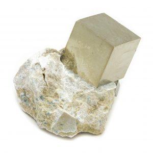 Pyrite Cube on Matrix-0