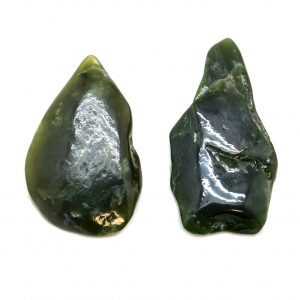 Dark Nephrite Jade Aura Crystal Pair (Small)-0