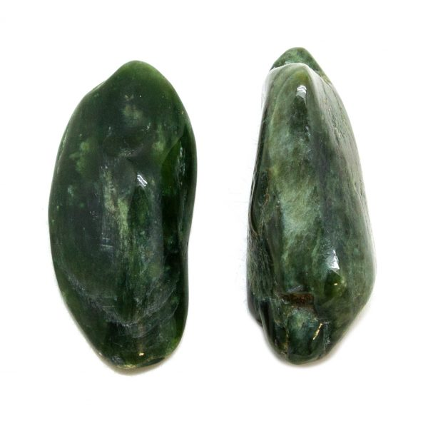 Dark Nephrite Jade Aura Crystal Pair (Small)-148959