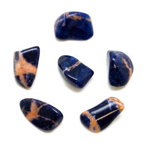 Sunset Sodalite Tumbled Stone Set (Medium)-0