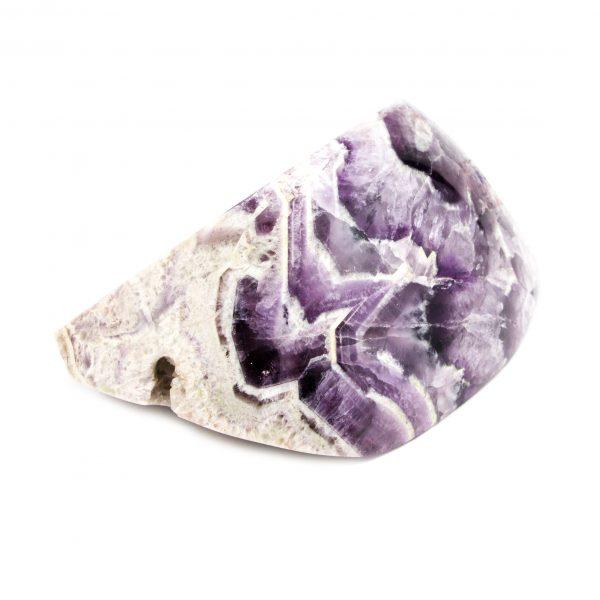 Polished Chevron Amethyst Display Piece-153618