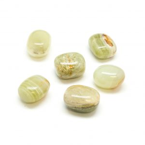 Green Onyx Tumbled Stone Set (Large)-0