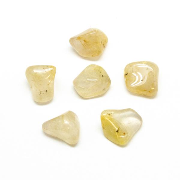 Rutilated Quartz Tumbled Stone Set (Medium)-191362