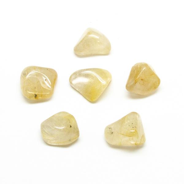 Rutilated Quartz Tumbled Stone Set (Medium)-0