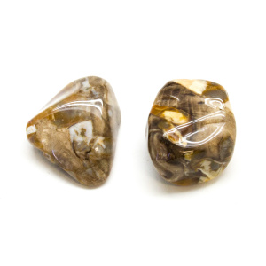 Peanut Wood Aura Stone Pair (Small)-0