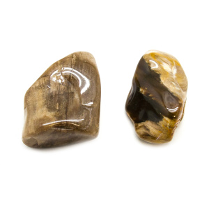 Peanut Wood Aura Stone Pair (Medium)-0