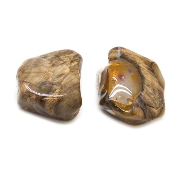 Peanut Wood Aura Stone Pair (Medium)-172536