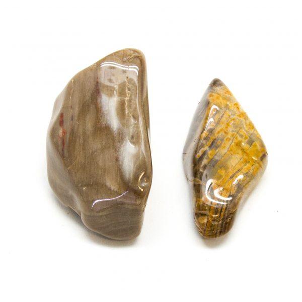 Peanut Wood Aura Stone Pair (Large)-0