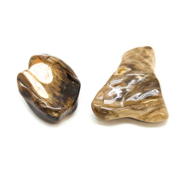 Peanut Wood Aura Stone Pair (Large)-172555