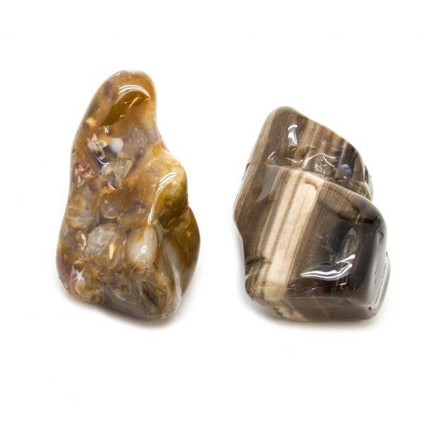 Peanut Wood Aura Stone Pair (Large)-172554