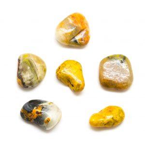 Bumble Bee Jasper Tumbled Stone Set (Large)-172572
