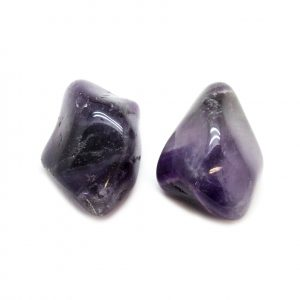 Dark Amethyst Aura Stone Pair (Small)-0