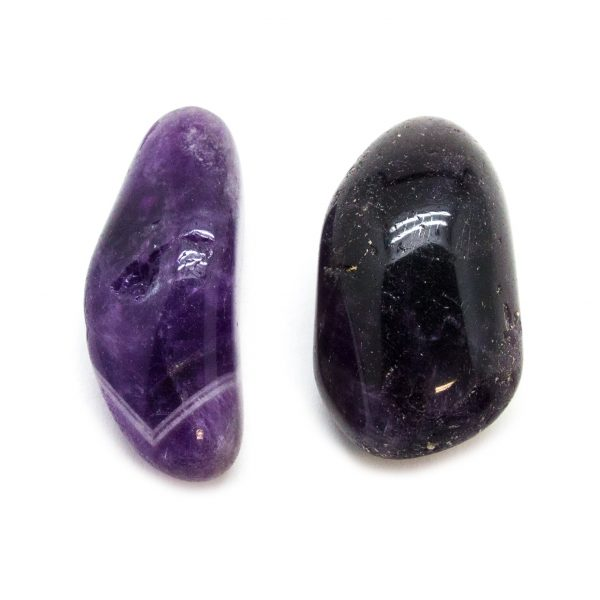 Dark Amethyst Aura Stone Pair (Small)-173297