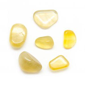 Yellow Fluorite Tumbled Stone Set (Large)-0