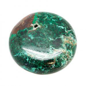 Polished Malachite and Chrysocolla Cabochon-0