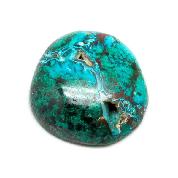 Polished Malachite and Chrysocolla Cabochon-0