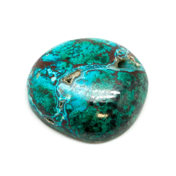 Polished Malachite and Chrysocolla Cabochon-178802