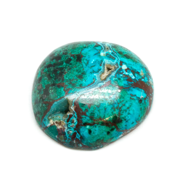 Polished Malachite and Chrysocolla Cabochon-178803