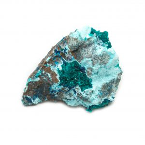 Dioptase Cluster with Shattuckite, Chrysocolla, and Malachite-0