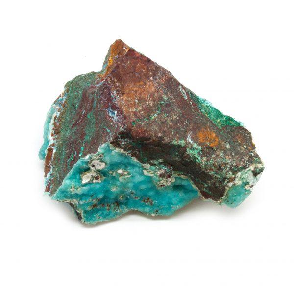 Druzy Chrysocolla Cluster with Malachite-0