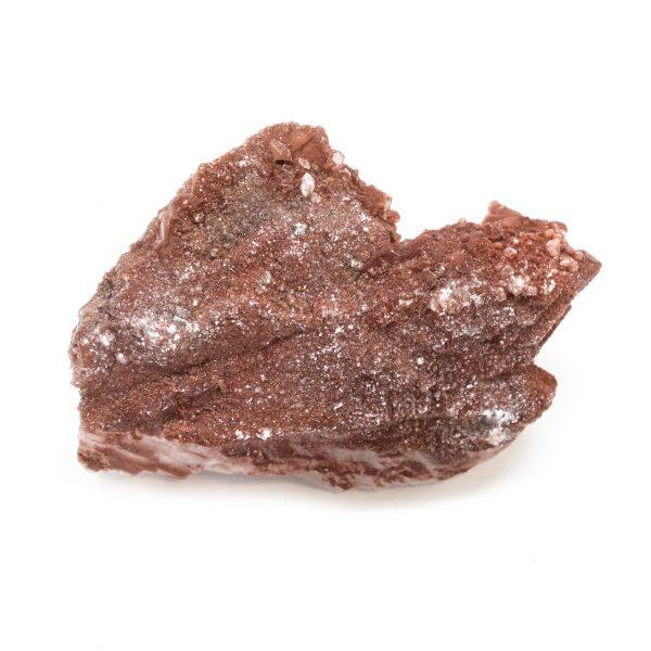 Red Hematite Quartz with Chalcopyrite Cluster-0