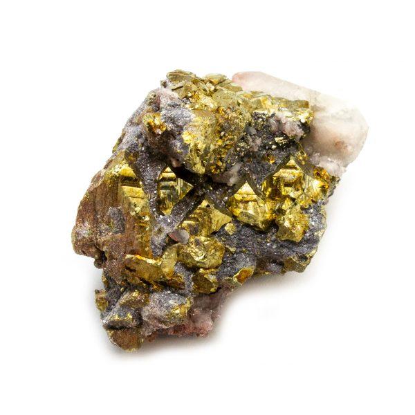 Red Hematite Quartz with Chalcopyrite Cluster-184232