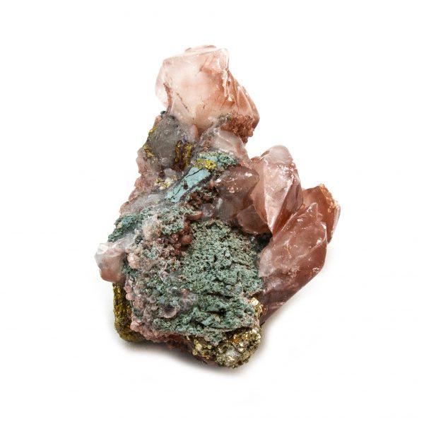 Red Hematite Quartz with Chalcopyrite Cluster-184238