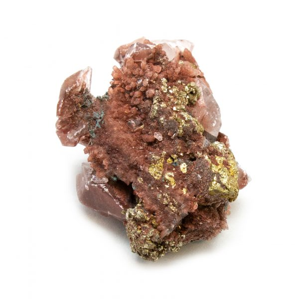 Red Hematite Quartz with Chalcopyrite Cluster-184239