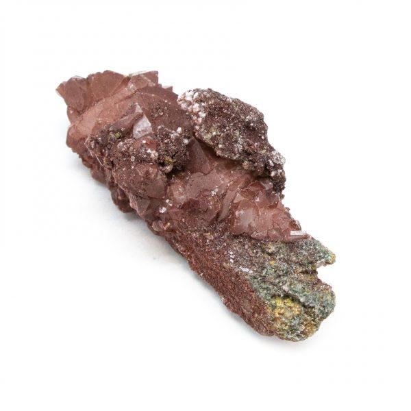 Red Hematite Quartz with Chalcopyrite Cluster-184349