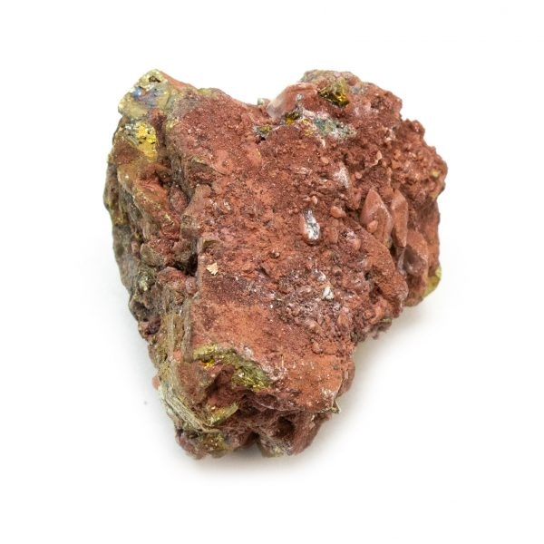 Red Hematite Quartz with Chalcopyrite Cluster-184651