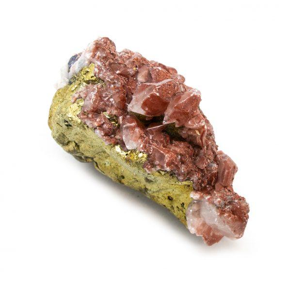 Red Hematite Quartz with Chalcopyrite Cluster-184653