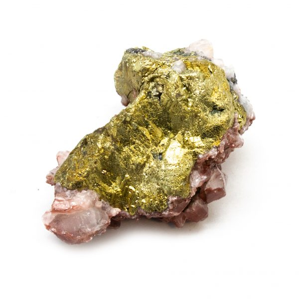Red Hematite Quartz with Chalcopyrite Cluster-184655