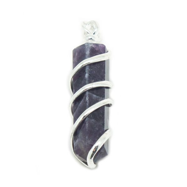 Amethyst Coil Wrapped Pendant-180475