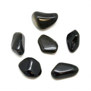 Gold Sheen Obsidian Tumbled Stone Set(Extra Large)-0
