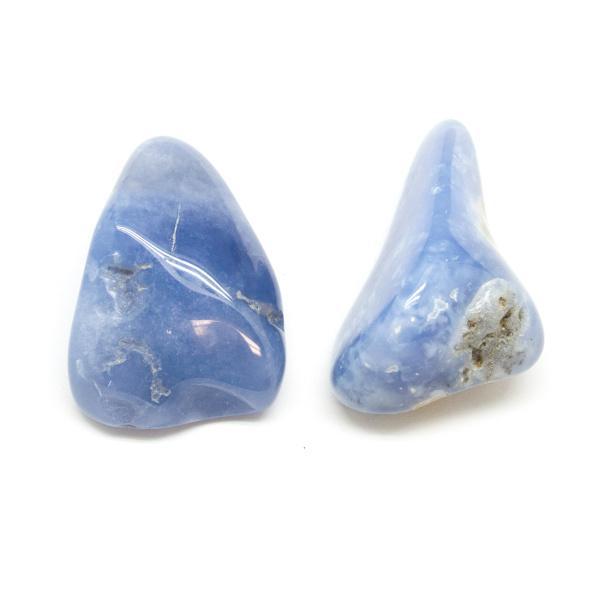 Blue Chalcedony Aura Stone Pair(Small)-0