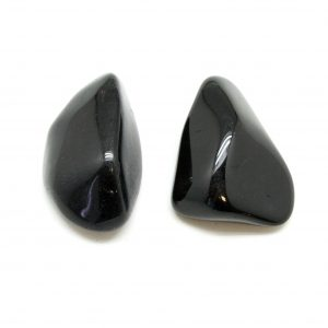 Black Tourmaline Aura Stone Pair (Small)-0